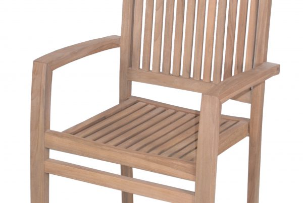 economic stacking arm chair