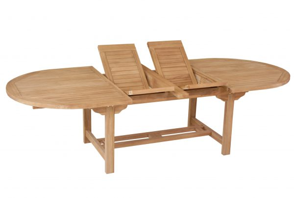 grand oval double extending table 200-240-280x120x75 cm