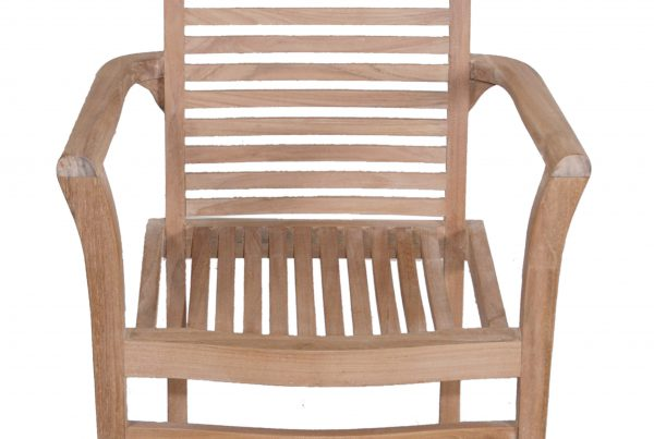 new stacking arm chair