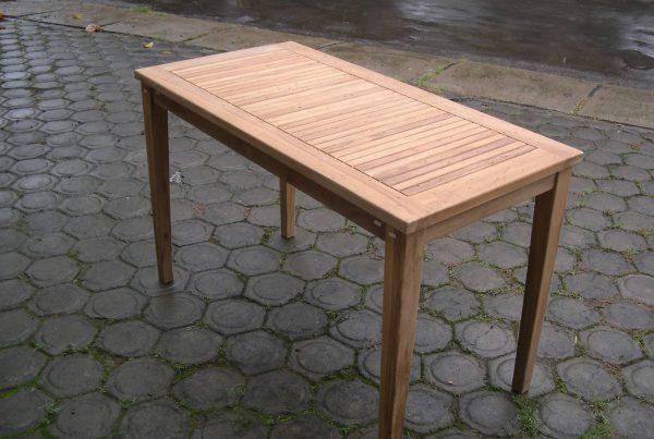 rectangular bistro table 120 x 50 cm