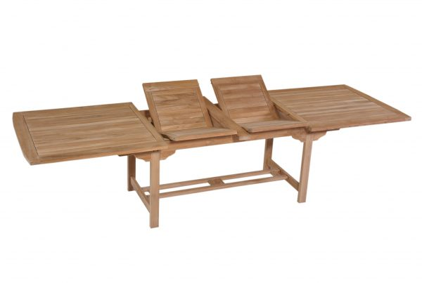 rectangular double extending table 210-260-310x100x75 cm