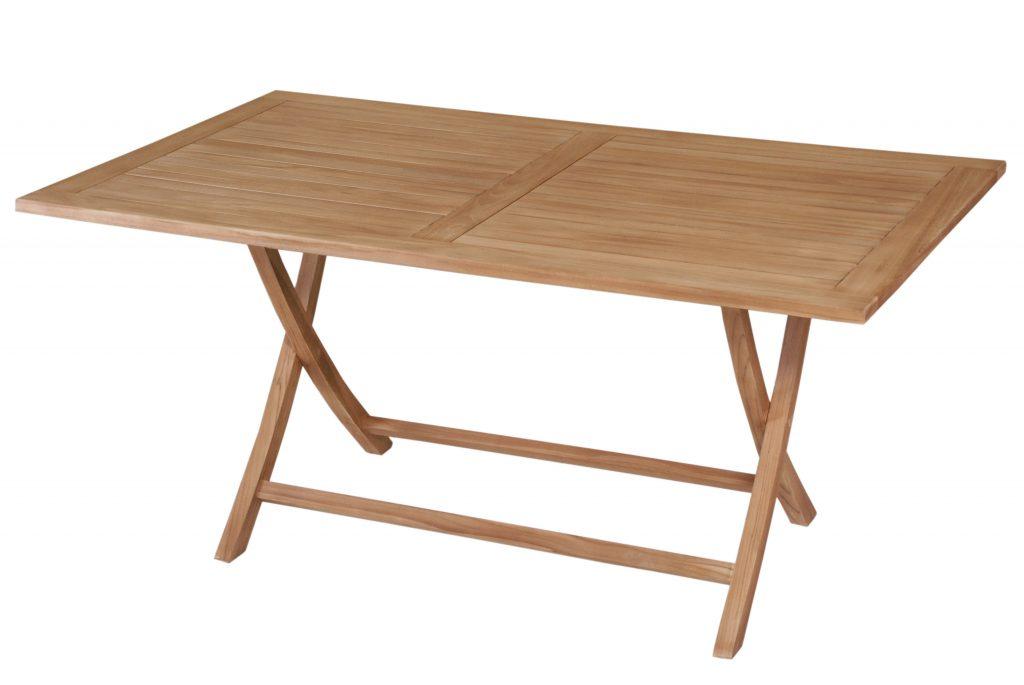 Rectangular folding table 170x100x75 cm javanesiateak for Table cuisine 75 x 75